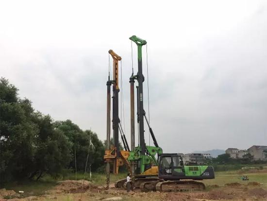 泰信机械小型旋挖钻机城区施工显优势