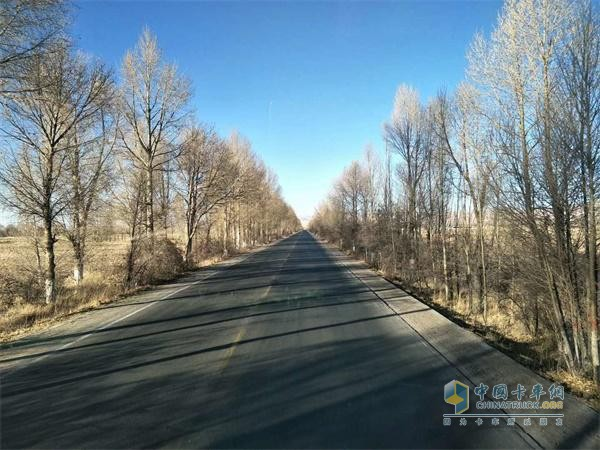 Zhao Debin and Auman truck on the road