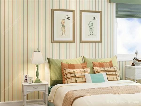 卧室贴什么颜色的壁纸好