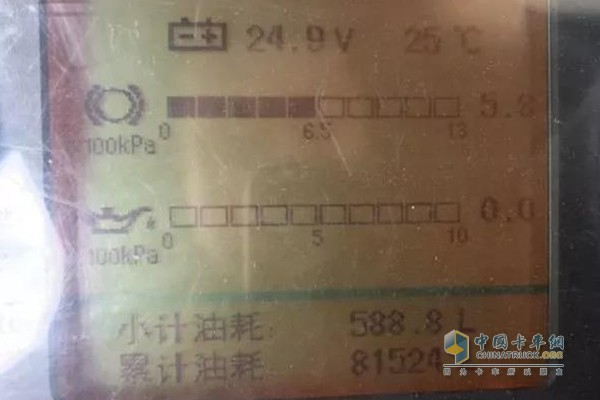 Master Zhao's Dongfeng Tianlong Qihang Edition 450 Fuel Consumption Meter