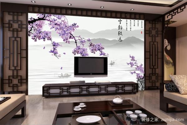 新中式电视背墙