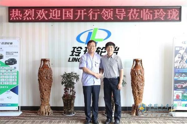 Wang Lei, Vice President, and Wang Feng, Chairman and President of Linglong Tire Group