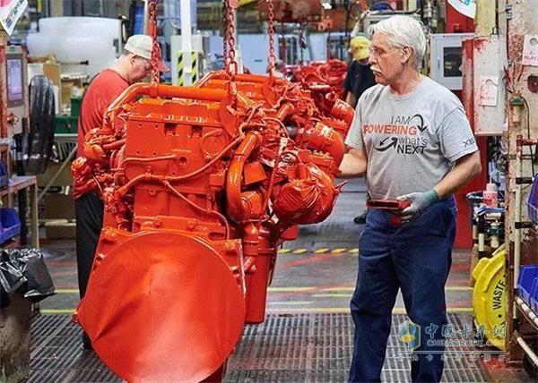 The 2 millionth engine at the Cummins Jamestown plant