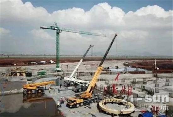 徐工起重机助力墨西哥城新国际机场建设项目
