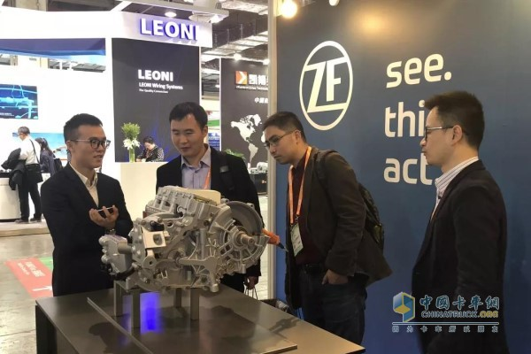 EVTec's on-site ZF booth is crowded
