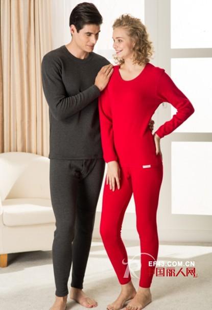 红色情侣款保暖内衣 将温暖重重包围