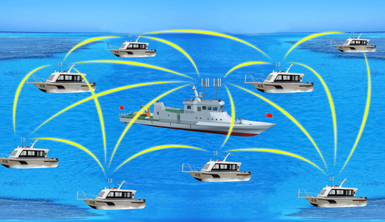 Marine ship wireless transmission scheme