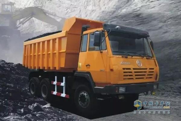 High horsepower mining truck