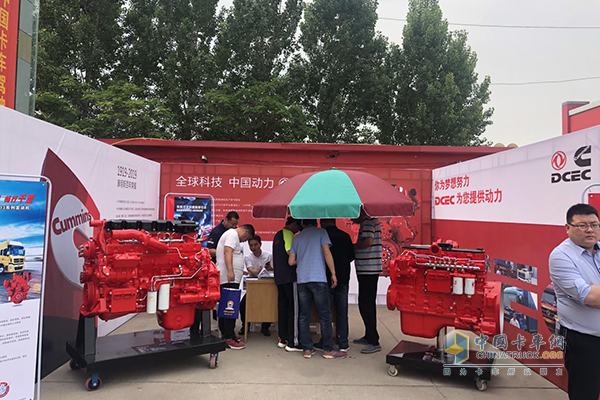 At the event site, Dongfeng Cummins took the IZ and ISL series engines to help out