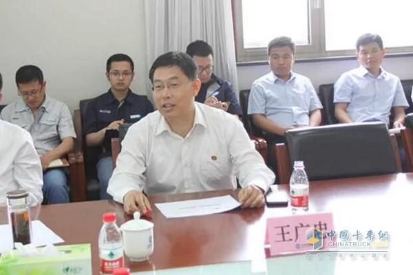 Wang Guangzhong, deputy secretary of the Party Working Committee of Binzhou Economic and Technological Development Zone