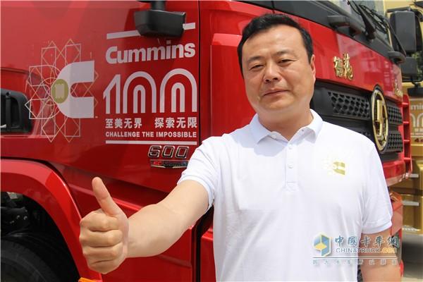 Wang Haitao, head of Baige City Jiege Logistics