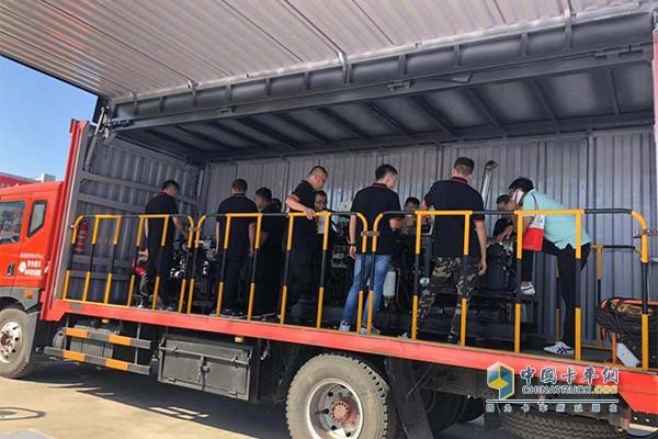 Service caravan training activities