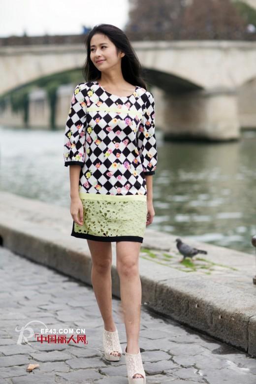 时尚明星颖儿巴黎演绎betu百图春装新品