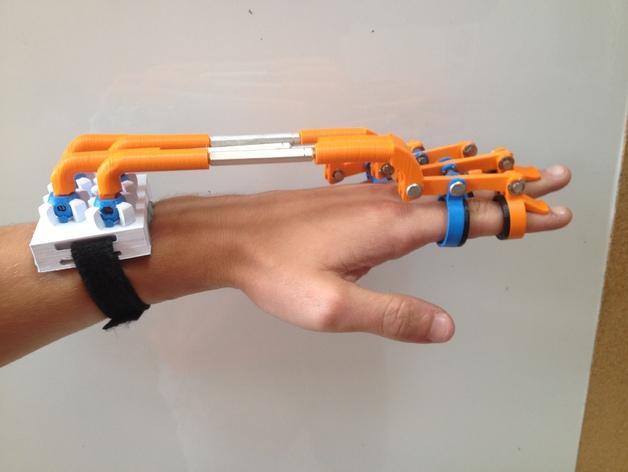 3D打印的手部助力外骨骼装置Spiderhand