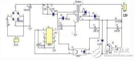 LED driver power supply _ commonly used LED driver power circuit diagram