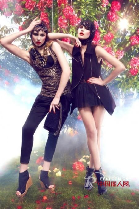 卡斯比亚品牌女装 绽放绚丽奢华的妖娆气质