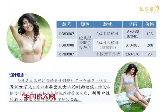 """迪芬娜2015春夏无痕系列""""魅力条纹""""内衣新品上市"""