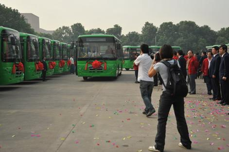 Ganzhou's First CNG Gas Bus Launches