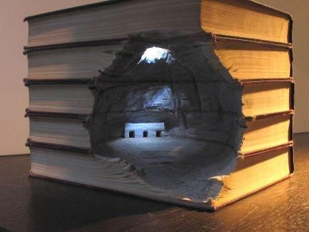 Incredible book carving crafts