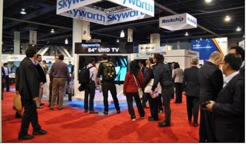 Skyworth 4K HDTV 璀璨 CES Exhibition