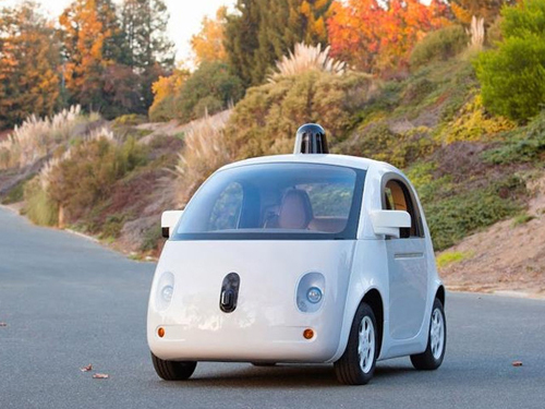 Google's first self-driving car prototype