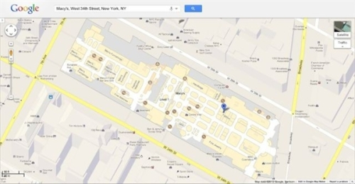 Google indoor map landing PC platform