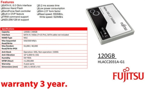 Fujitsu quietly enters the SSD industry