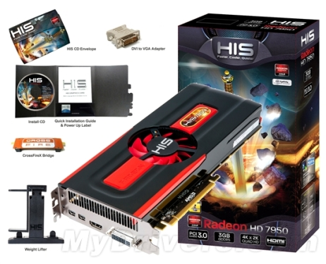 HIS Radeon HD 7950 lands on the domestic market for the first time