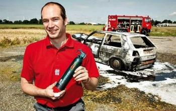 Is your car equipped with a fire extinguisher?
