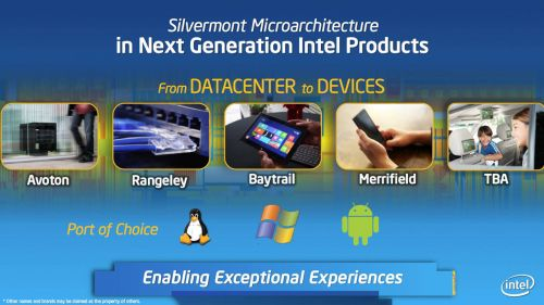 Silvermont chips consume more power and performance than ARM