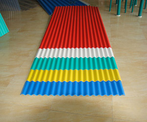 Three stages of PVC plastic tile development