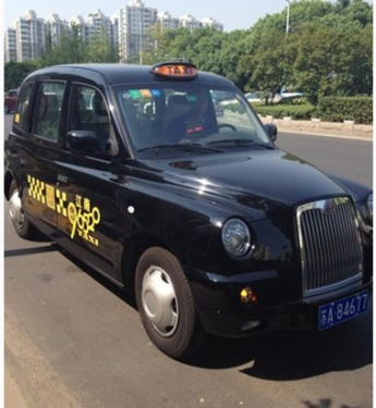 Nanjing British taxi makes a profit on the road