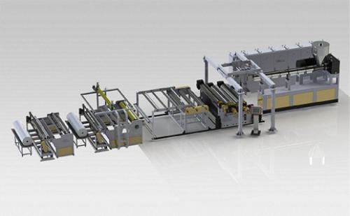 TPU film coextrusion production line configuration