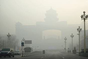 China's top 10 air pollution cities in China account for 7