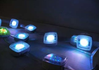 Affect full-color LED display light with four elements