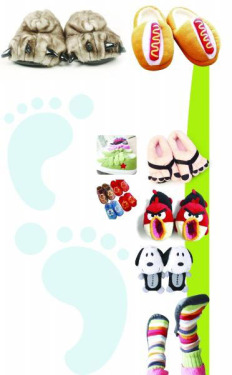Creative Slippers Warm and Funny: Angry Birds Foot Sweepers Hot Sale