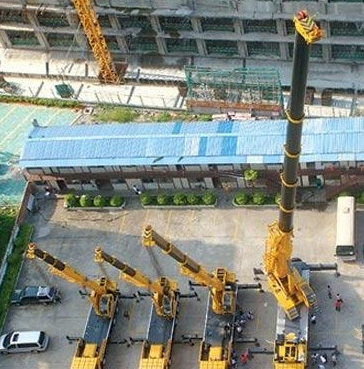 400 tons of cranes in Nanning up to 120 meters high (Figure)
