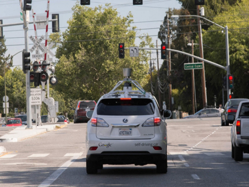 Google unmanned cars collided with public transport