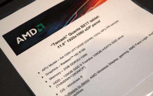 AMD launches Temash APU processor