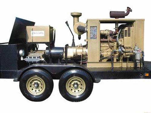 Industrial-grade high-pressure cleaner works