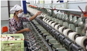 Monthly report on production of Chinese cotton textile enterprises