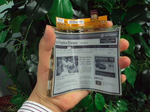 LG mass production plastic electronic paper display