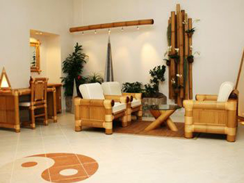 Japanese bamboo furniture exported to Europe and the United States favored
