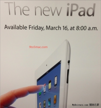 Apple's new iPad opened for retail sales on Friday