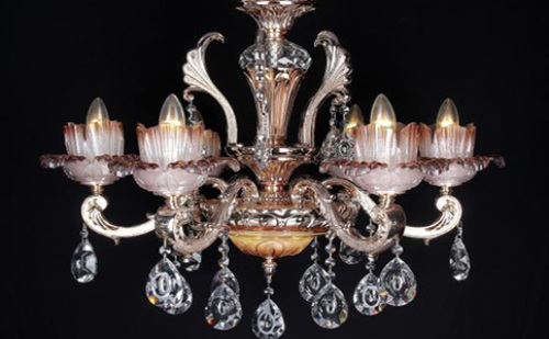 European Crystal Candle Chandelier