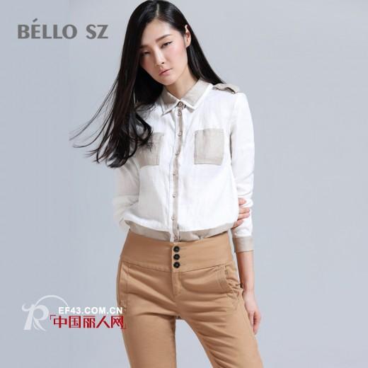 棉麻衬衫款式有哪些  棉麻衬衫搭配  棉麻衬衫搭配什么裤装