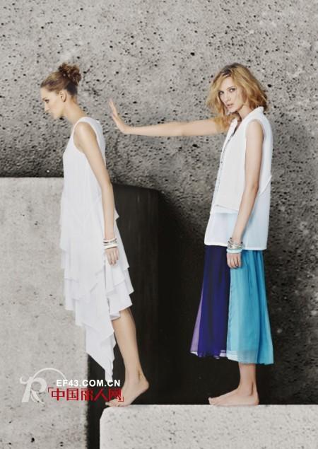新款白色系列女装 纯净清新色找回初恋感