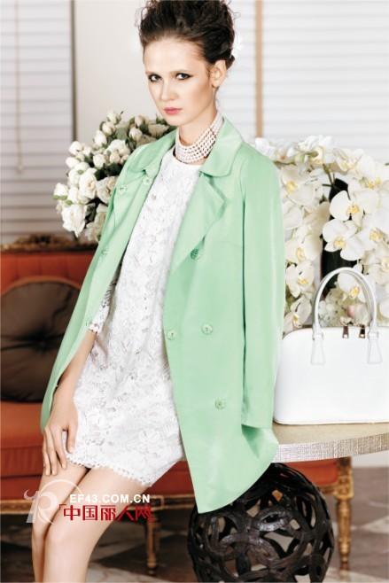 曼娅奴春季外套搭配 甜蜜清新马卡龙色穿起来