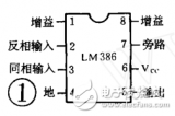 Microcomputer stereo power amplifier circuit of LM386 application circuit
