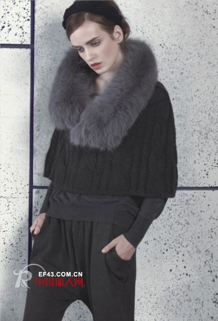 毛领外套新式穿法 最新款毛领毛衣